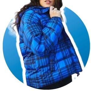 "JUICY COUTURE Puffer Coat ""Mod Royal"" Tartan Plaid"